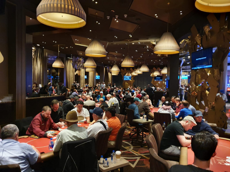 Dag 1 Aria Poker Room
